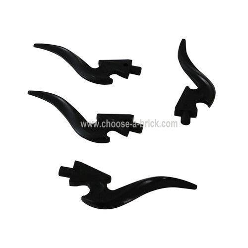 Wave Rounded Single with Pin (Flame) black