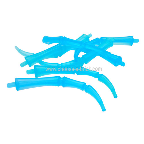 Appendage Bony Large with Axle (Leg / Rib / Tail) trans light blue