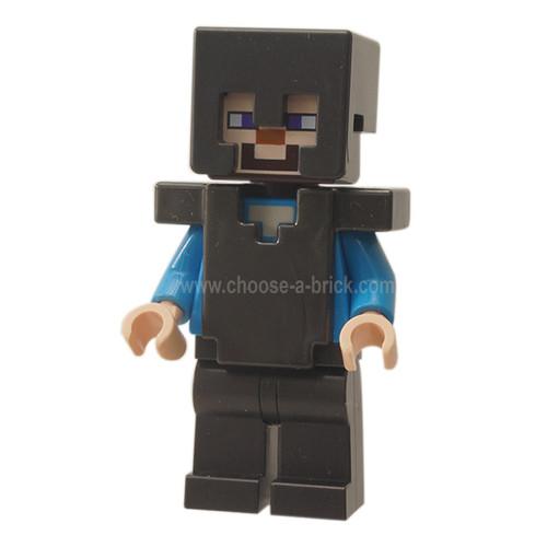 Steve - Pearl Dark Gray Helmet, Armor and Legs