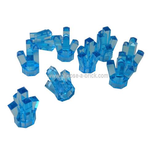 Rock 1 x 1 Crystal 5 Point trans medium blue
