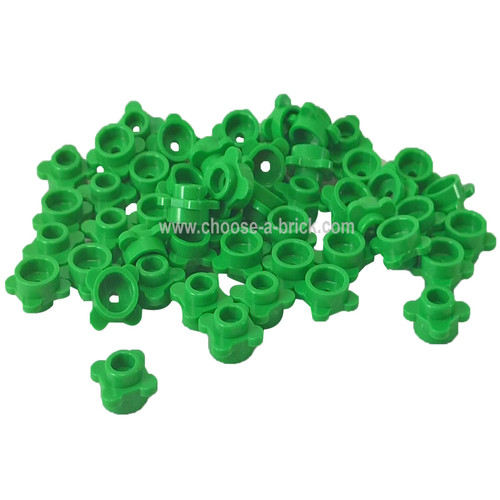 Plate, Round 1 x 1 with Flower Edge (4 Knobs / Petals) bright green