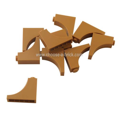 Brick, Arch 1 x 3 x 2 Inverted medium nougat