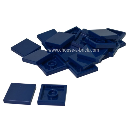 Tile 2 x 2 with Groove dark blue