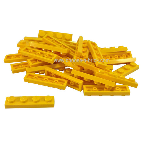 Plate 1 x 4 yellow