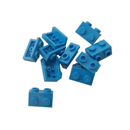 Bracket 1 x 2 - 1 x 2 dark azure