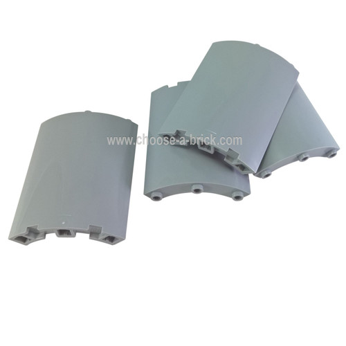 Cylinder Quarter 4 x 4 x 6 light bluish gray