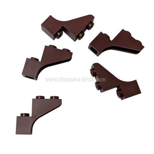 Brick, Arch 1 x 3 x 3 reddish brown