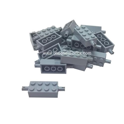 Brick, Modified 2 x 4 with Pins light bluish gray