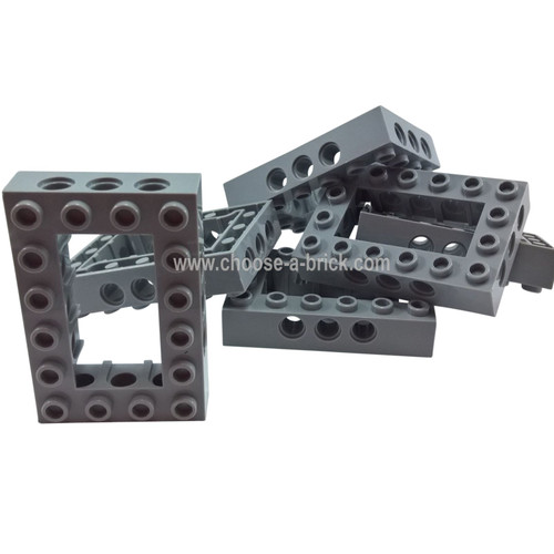 Technic, Brick 4 x 6 Open Center light bluish gray