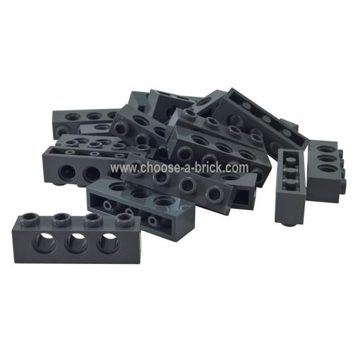 Technic, Brick 1 x 4 with Holes black