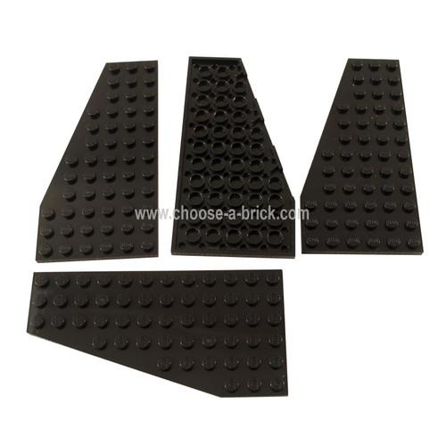 Wedge, Plate 6 x 12 Left black
