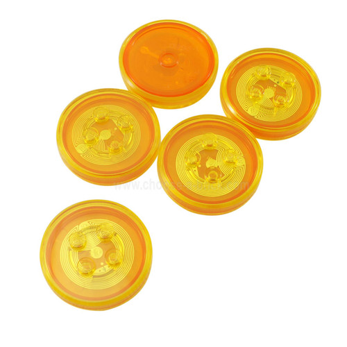 Dimensions Toy Tag 4 x 4 x 2/3 with 4 Studs and Trans-Orange Bottom (Generic for Gadgets)