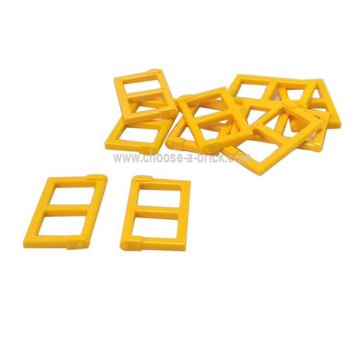 Window 1 x 2 x 3 Pane with Thick Corner Tabs yellow