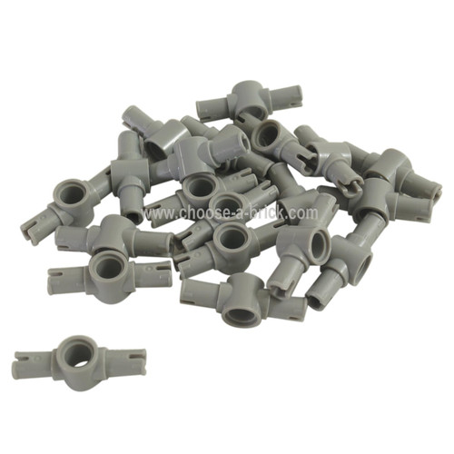 Technic, Pin 3L with Friction Ridges Lengthwise and Center Pin Hole light bluish gray