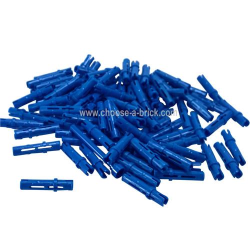 Technic, Pin 3L with Friction Ridges Lengthwise blue