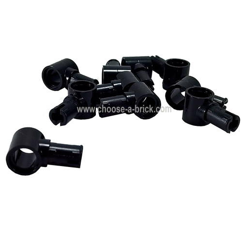 Technic, Pin with Friction Ridges Lengthwise and Pin Hole black