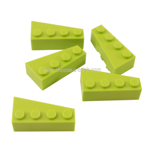 Wedge 4 x 2 Left lime - LEGO Parts and Pieces