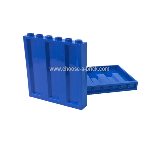 Panel 1 x 6 x 5 Corrugated blue
