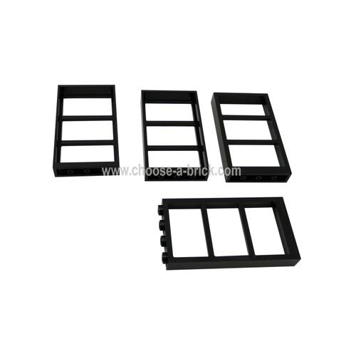 Window 1 x 4 x 6 Frame with 3 Panes black