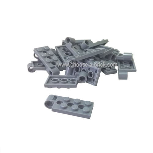 Hinge Plate 2 x 4 with Pin Hole and 3 Holes - Bottom light bluish gray