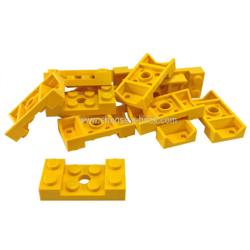 Vehicle, Mudguard 2 x 4 with Arch Studded with Hole yellow