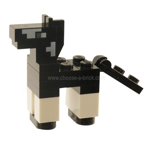 Minecraft Horse Baby black - Brick Built