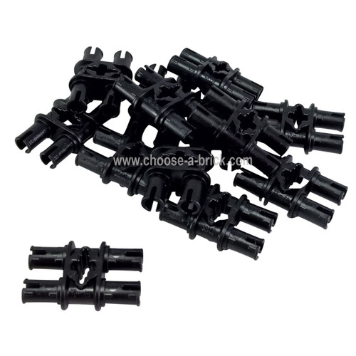 Technic, Pin Double with Axle Hole black