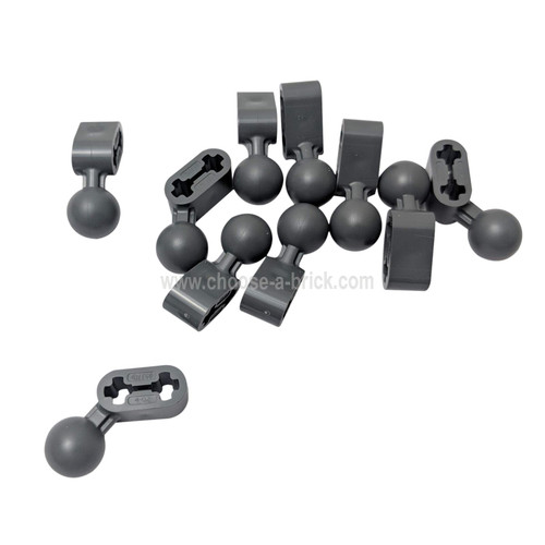 Technic, Liftarm 1 x 2 with Ball Joint Angled dark bluish gray