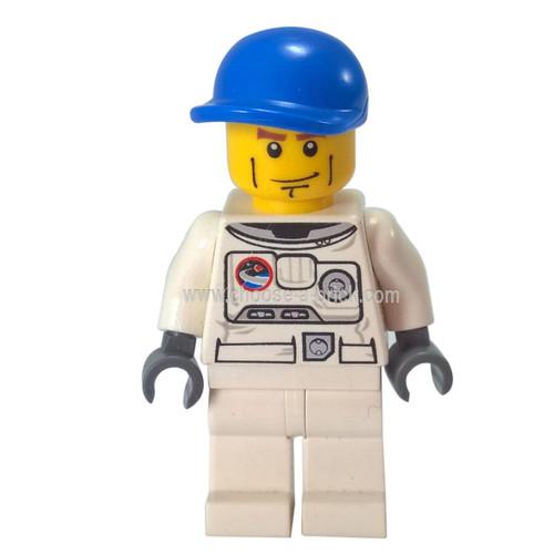 Spacesuit White Legs Blue Short Bill Cap Brown Eyebrows