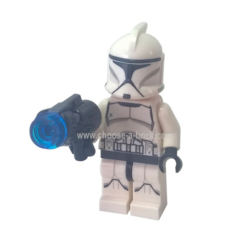 Clone Trooper, Printed Legs 75206 with weapon