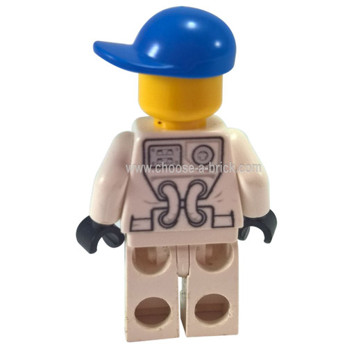 Spacesuit White Legs Blue Short Bill Cap Black Eyebrows