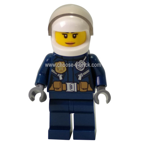 City Helicopter Pilot Female, Leather Jacket with Gold BadgeÂ