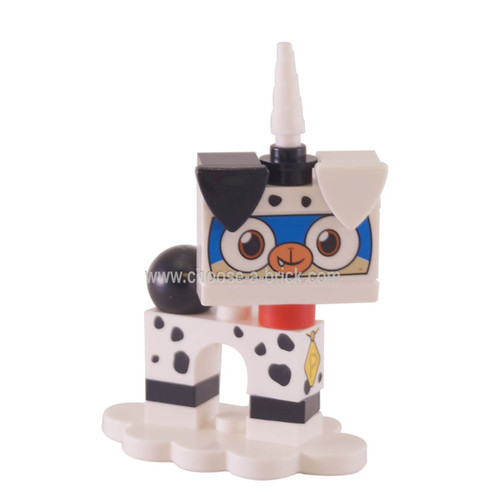 coluni1 Dalmatian Puppycorn, Unikitty!, Series 1 Complete Set with Stand taken out of the bag to verify content. Complete.