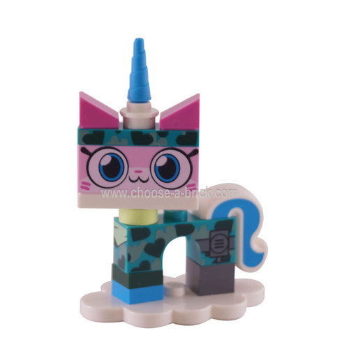 Camouflage Unikitty, Unikitty!, Series 1 Complete Set with Stand taken out of the bag to verify content. Complete.