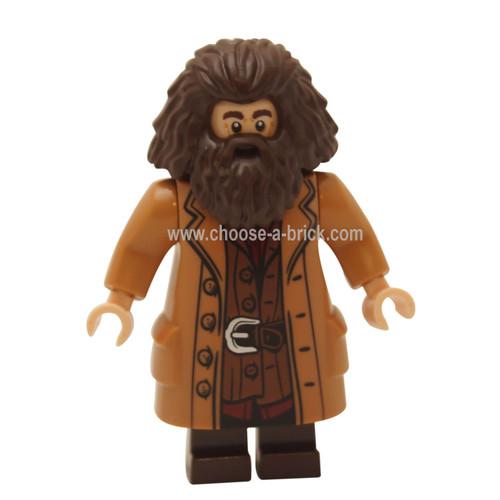 Rubeus Hagrid, Medium Dark Flesh Coat - LEGO MInifigures Harry Potter