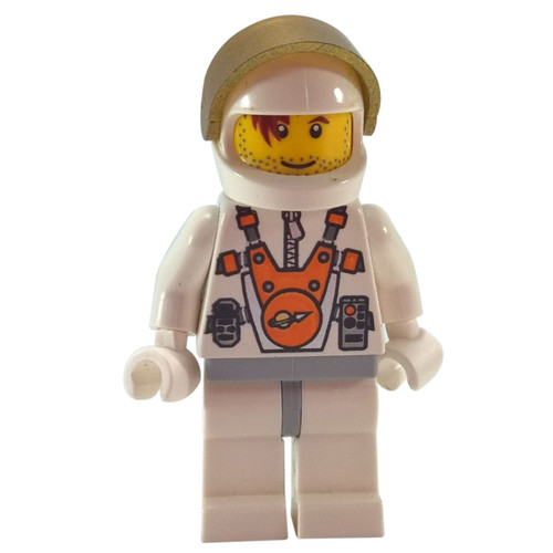 Mars Mission Astronaut with Helmet and Red-Brown Hair over Eye and Stubble - LEGO Minifigure Space