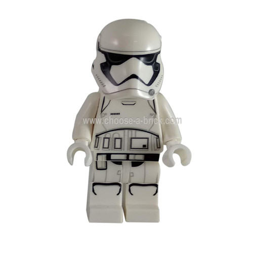 First Order Stormtrooper (Pointed Mouth Pattern) - LEGO Minifigure Star Wars