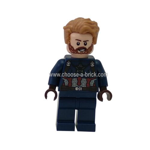 Captain America, Beard - LEGO Minifigure Super Heroes