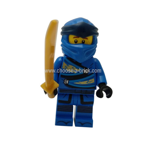 Jay (Legacy) with weapons - LEGO Minifigure NInjago
