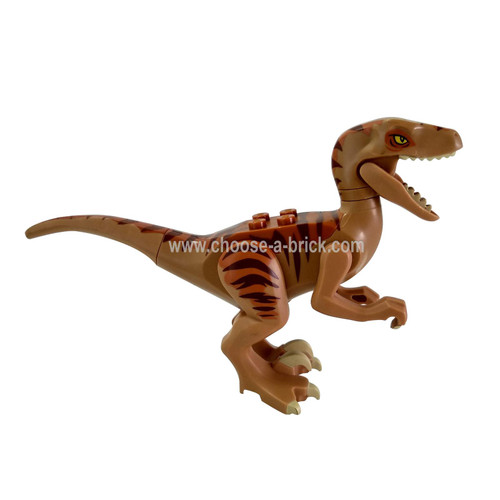 Medium Dark Flesh Dinosaur, Raptor - Velociraptor with Dark Orange Back