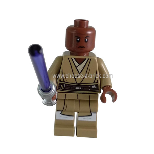 Mace Windu (Dark Tan Legs) with weapon - LEGO Minifigure Star Wars