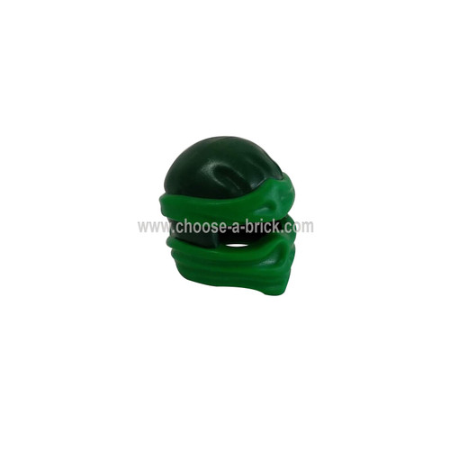 Minifigure, Headgear Ninjago Wrap Type 2 with Green Wraps and Knot Pattern - LEGO Parts and Pieces