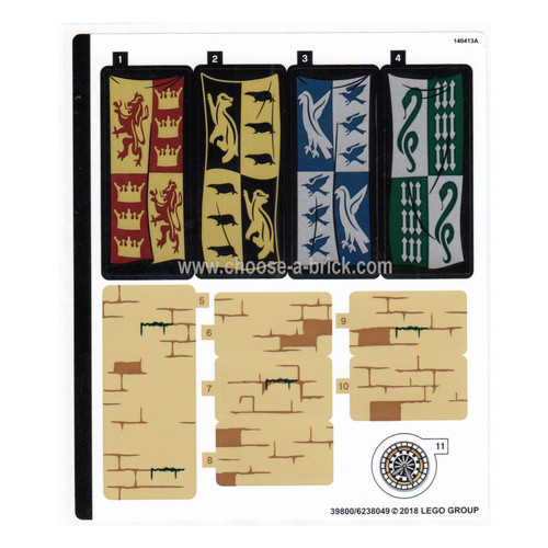 Sticker for Set 75954 - Sheet 1 - 39800-6238049 - LEGO Parts and Pieces