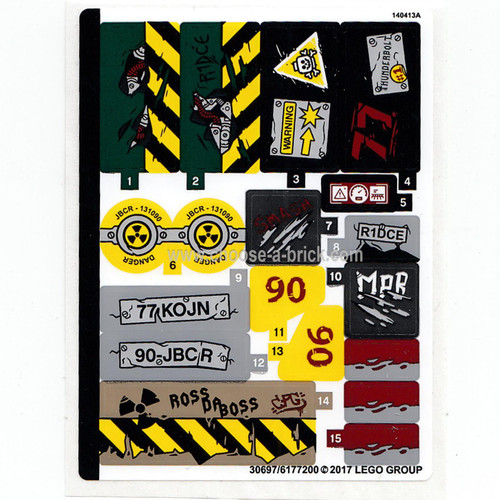 Sticker for Set 76078 - 30697-6177200 - LEGO Parts and Pieces