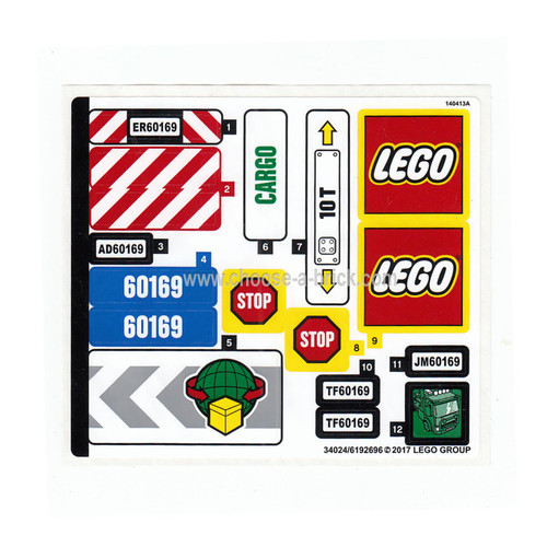 Sticker for Set 60169 - 34024-6192696 - LEGO Parts and Pieces