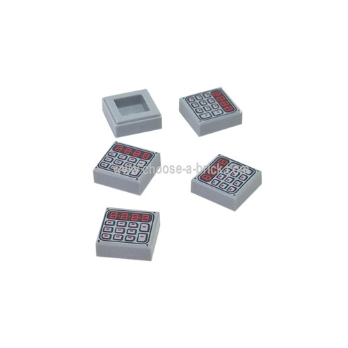 Light Bluish Gray Tile 1 x 1 with Keypad Pattern - LEGO Parts and Pieces