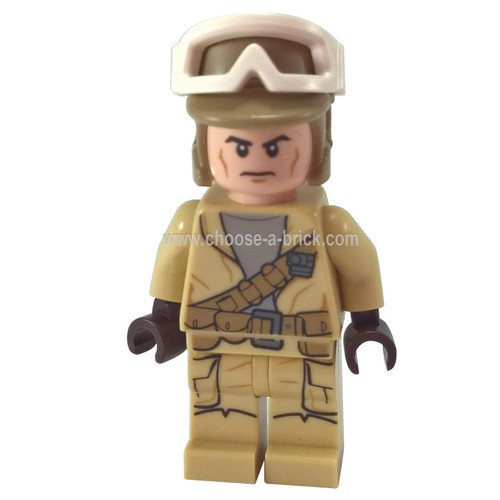 Rebel Trooper, Goggles, Dark Tan Helmet 75133 - LEGO Minifigure Star Wars