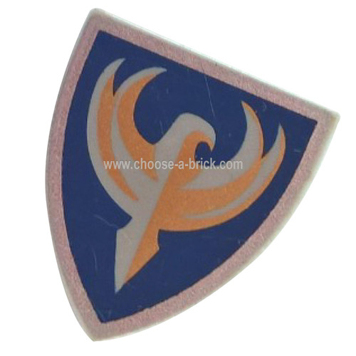 Shield Triangular with Dark Blue and Gold Jayko Hawk Pattern - LEGO Parts and Pieces