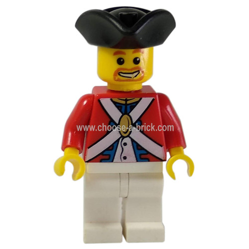 Imperial Soldier II - Officer, Brown Beard - LEGO Minifigure Pirate