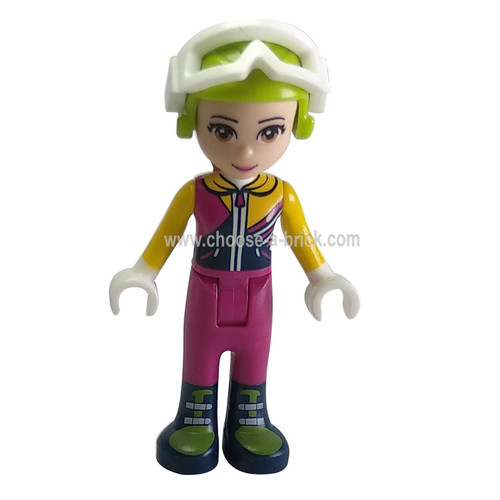 Friends Olivia, Ski Jacket, Helmet, Goggles - LEGO Minifigure Friends